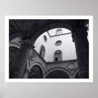 Patio de Palazzo Vecchio Poster