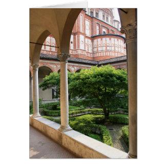 Patio del convento tarjeta de felicitación