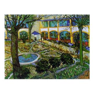 Patio del hospital en Arles, Vincent van Gogh Tarjeta Postal