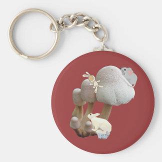 Patio del juguete del bebé de la seta llavero redondo tipo pin