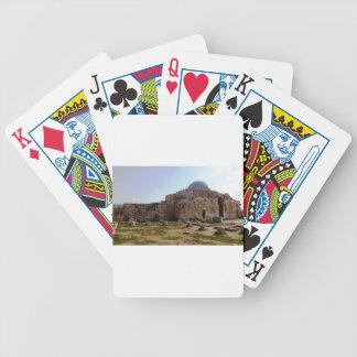 Patio del monumento de la ciudadela baraja de cartas