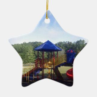 Patio del parque adorno navideño de cerámica en forma de estrella