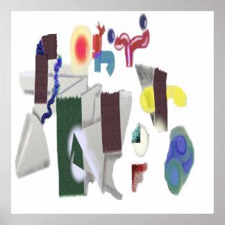 Patio - elija su color de fondo póster