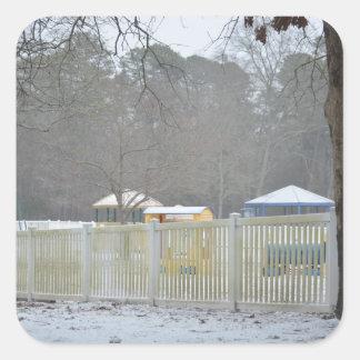 Patio en la nieve