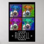 Patio Jack Russell Terrier del arte pop Poster