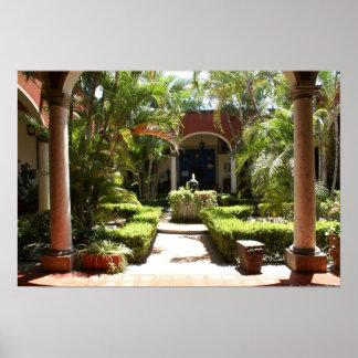 Patio mexicano clásico en San Blas Nayarit Impresiones