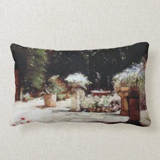 Patio of Cordoba/Courtyard in Cordoba Lumbar Pillow