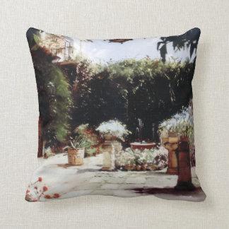 Patio of Cordoba/Courtyard in Cordoba Throw Pillow