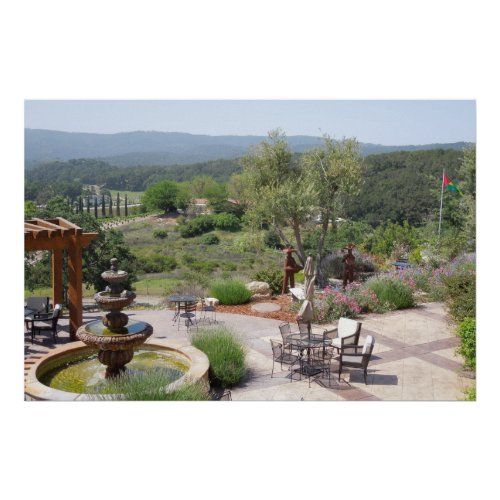 Patio of Croad Tasting Room, Paso Robles Poster