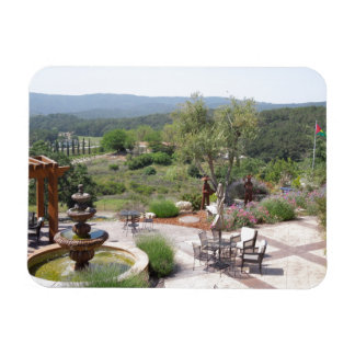Patio of Croad Tasting Room, Paso Robles Rectangular Photo Magnet