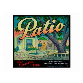 Patio Orange LabelColton, CA Postcard