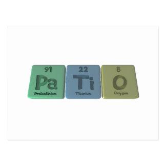Patio-Pa-Ti-O-Protactinium-Titanium-Oxygen.png Postcard