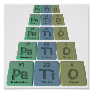 Patio-Pa-Ti-O-Protactinium-Titanium-Oxygen.png Print