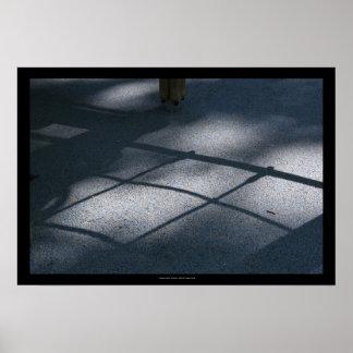 Patio para la sombra neta que sube P de los niños Póster