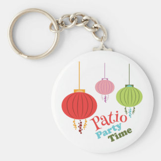 Patio Party Time Basic Round Button Keychain