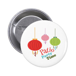 Patio Party Time 2 Inch Round Button