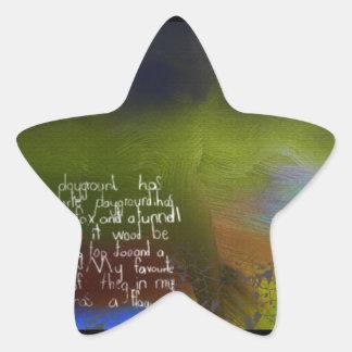 Patio Pegatina En Forma De Estrella