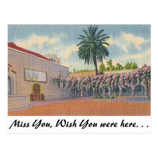 Patio, plaza vieja de la misión, Los Ángeles Postal