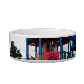 Patio primario colorido Equipme de las diapositiva Tazón Para Comida Gato