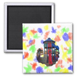 Patio primario colorido Equipme de las diapositiva Imán Cuadrado