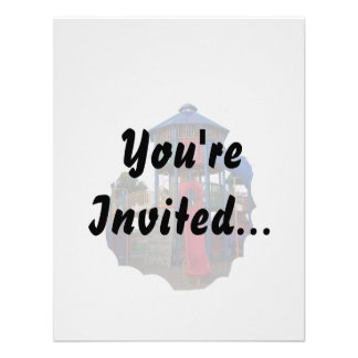 Patio primario colorido Equipme de las diapositiva Invitaciones Personales