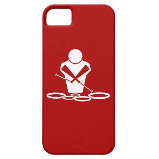 ¡Patios - blanco - fondo rojo - bebé de los iPhone 5 Carcasas