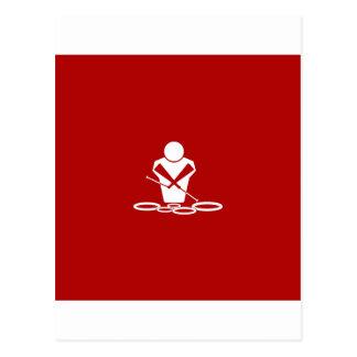 ¡Patios - blanco - fondo rojo - bebé de los tenore Postal