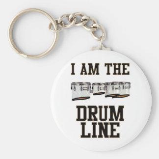 Patios: Soy la línea del tambor Llavero Redondo Tipo Pin