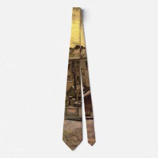 Patios traseros de Van Gogh de las casas viejas, Corbatas Personalizadas