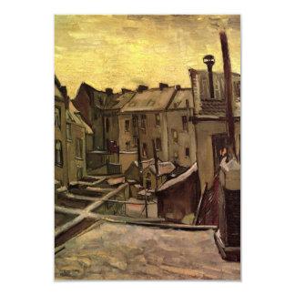 Patios traseros del viejo cambio de Van Gogh de Invitación 8,9 X 12,7 Cm