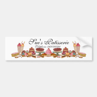 Patisserie Bumper Sticker, Cakes Or Baking Bumper Sticker