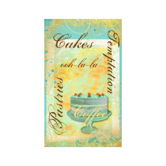 Patisserie french bakery coffee cake canvas print