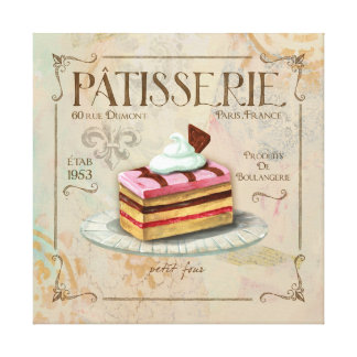 Patisserie II  French Wall Decor Canvas Print