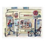 Patisserie París del mijo de Jean por el villancic Tarjeta Postal