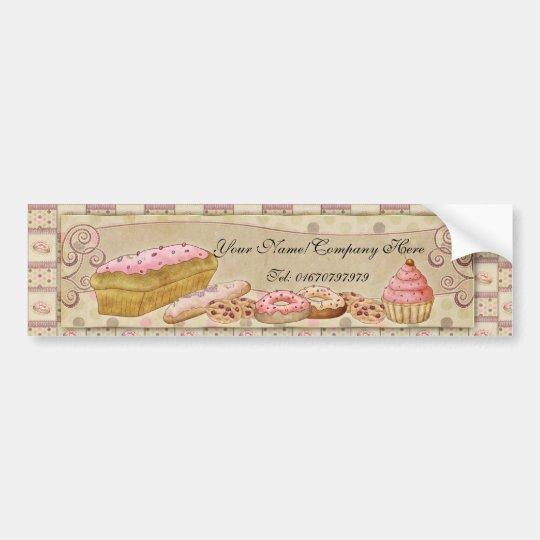 Pâtisserie - Patisserie Bumper Sticker With Cakes