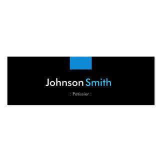 Patissier - acuerdo azul de la aguamarina plantilla de tarjeta de negocio