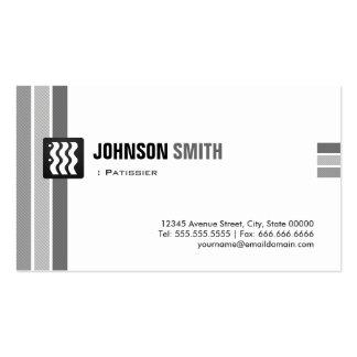 Patissier - blanco negro creativo tarjeta de negocio