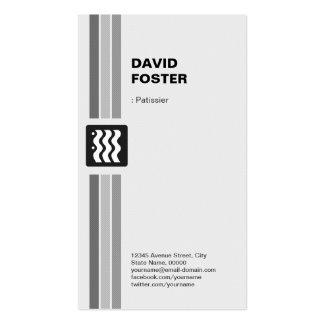 Patissier - blanco negro moderno plantilla de tarjeta de negocio