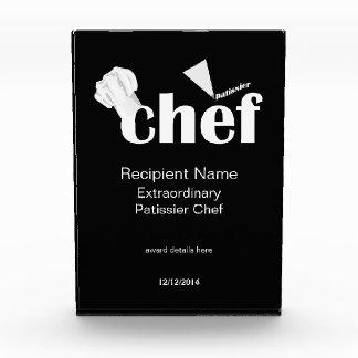 Patissier Chef Pastry Chef Custom Award