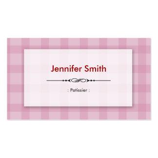 Patissier - cuadrados rosados bonitos tarjeta de visita