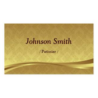 Patissier - damasco elegante del oro tarjetas de visita
