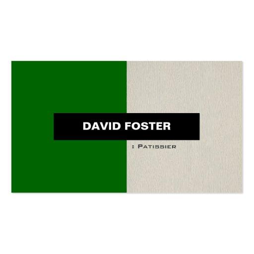 Patissier - elegante elegante simple tarjetas de visita