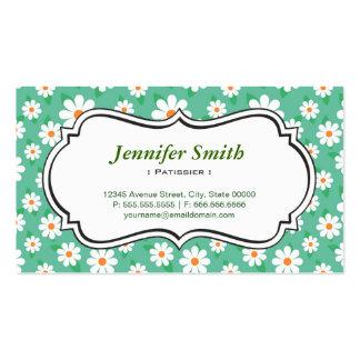 Patissier - margarita verde elegante tarjeta de visita
