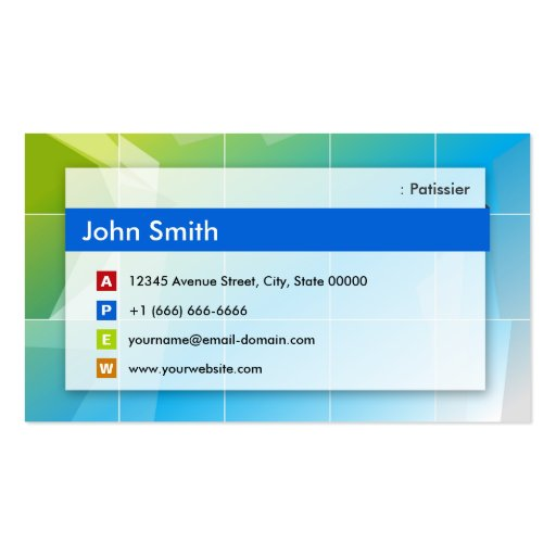 Patissier - Modern Multipurpose Double-Sided Standard Business Cards (Pack Of 100)