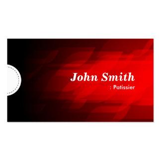 Patissier - rojo oscuro moderno tarjetas de visita
