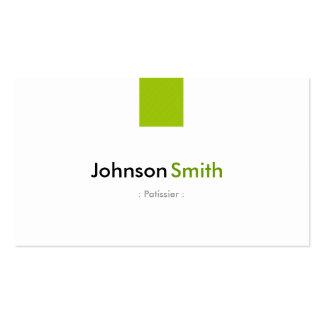 Patissier - verde menta simple tarjetas de negocios