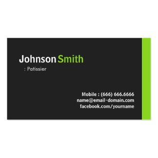 Patissier - verde minimalista moderno plantilla de tarjeta de negocio