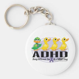 Patito feo de ADHD Llavero Redondo Tipo Pin