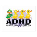 Patito feo de ADHD Tarjetas Postales