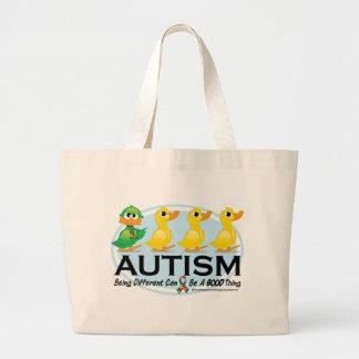 Patito feo del autismo bolsa tela grande